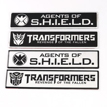 Auto Sticker Emblem Auto Badge Decals voor Land Rove BMW Audi Ford Nissan Toyota Honda Marvel Agenten van Shield Transformers logo(China)