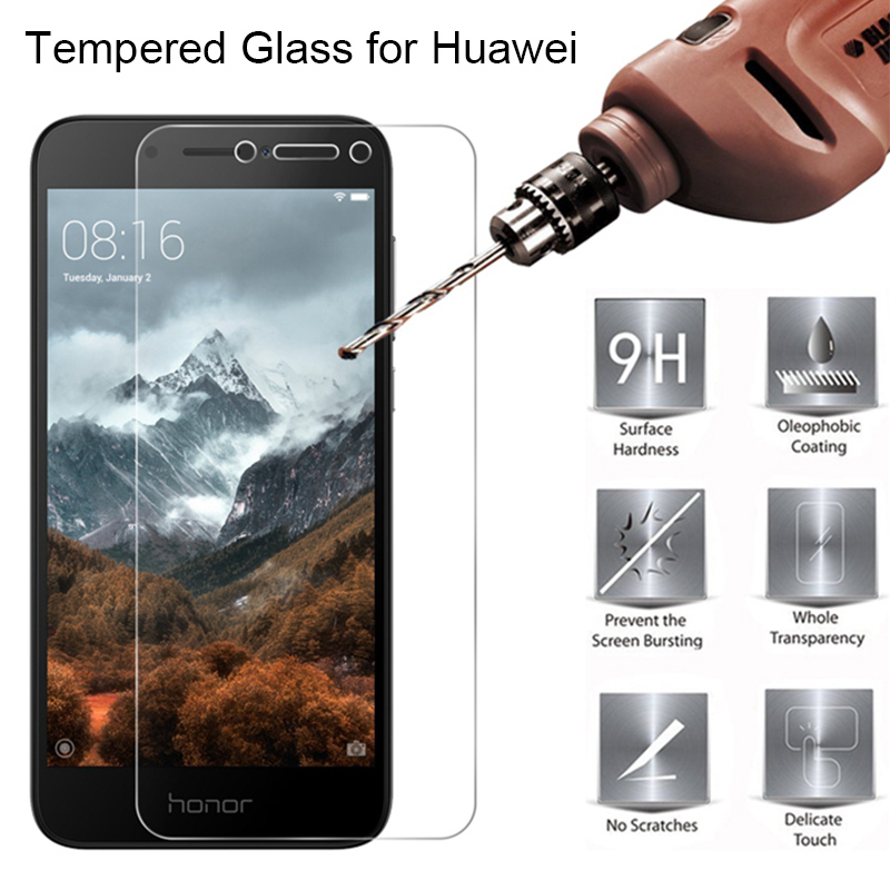 9H HD Tempered Glass For Huawei Honor 6C Pro 4C 5C 3C Phone Screen Protector Front Film Glass For Honor 5A 4A 6A Pro 5X 4X Film
