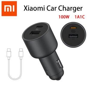 Image 1 - Xiaomi cargador USB de carga rápida para coche, cargador de teléfono móvil con dos puertos, 37w, para iPhone y Samsung