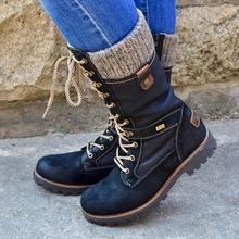 Lasperal buty zimowe damskie buty podstawowe kobiety połowy łydki buty okrągłe Toe Zip platformy wystrój buty damskie ciepłe sznurowane buty buty tanie tanio Krótki pluszowe Pasuje mniejszy niż zwykle proszę sprawdzić ten sklep jest dobór informacji Okrągły nosek RUBBER