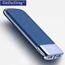 Для Xiaomi Mi iphone X Note 8 20000 мАч Внешний аккумулятор внешний аккумулятор 2 USB светодиодный внешний аккумулятор портативное зарядное устройство для мобильного телефона