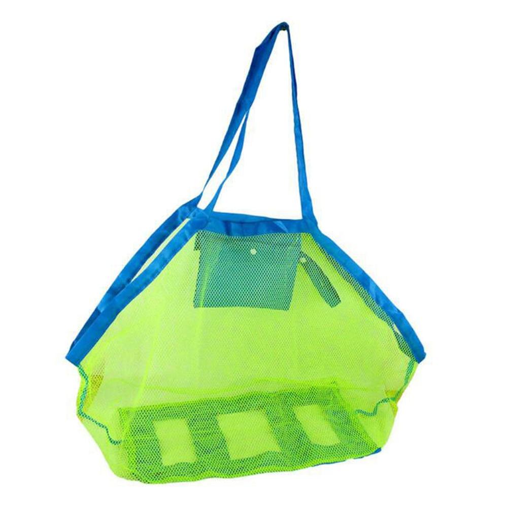 Mom Baby Beach Bags Women Kids Mesh Bag Big Size Folding Messerger Bag Toy Tool Storage Handbag Pouch Tote Children Shoulder Bag