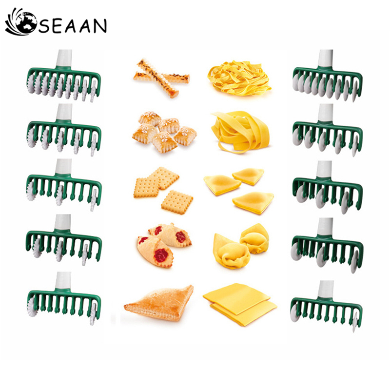 Noedels Cutter Keuken Werkzeug Multi Functie Roller Dockers Deeg Cutter Kunststoff Nudel Mes Pasta Instant Noedels Maker Pasta Cutter