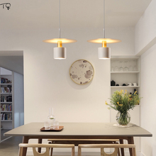 Nordic Simple Minimalist Black White Small Pendant Lights Modern Geometric Suspension Luminaire Bedroom Bedside Restaurant Bar