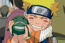 Free Shipping Anime Naruto Uzumaki Green Frog Wallet