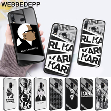 Karl Lagerfeld Glass Case for Samsung S7 Edge S8 S9 S10 Plus A10 A20 A30 A40 A50 A60 A70 Note 8 9 10 стоимость