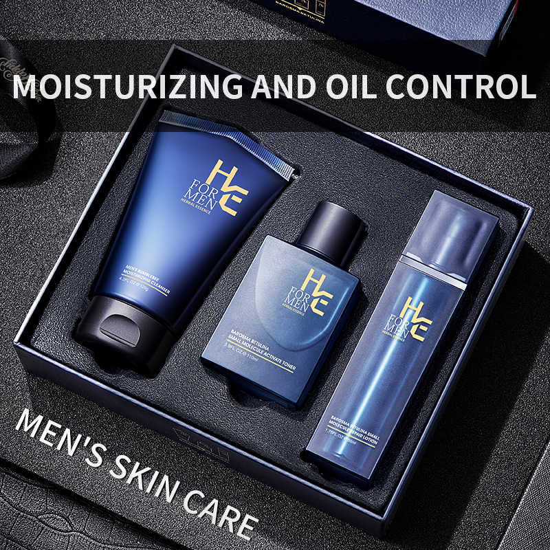 Hearn Men S Skin Care Set Cleanser Milk Control Oil Moisturizing Acne Care Care Whitening Cleanser Set Capacity High Quality Aliexpress