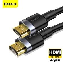 Baseus Dây Cáp HDMI 4K HDMI Nam Đến Cáp HDMI 2.0 Dây PS4 Apple TV 4K Bộ Chia Công Tắc nắp Hộp 60Hz Video Cáp HDMI 5M