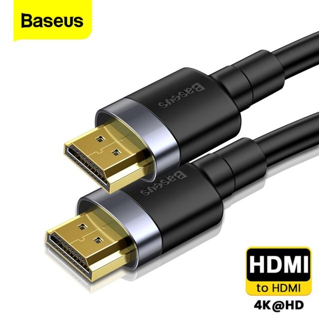 Câble HDMI Baseus 4K HDMI mâle vers HDMI 2.0 cordon de câble pour PS4 Apple TV 4K répartiteur boîtier de commutation Extender 60Hz câble vidéo HDMI 5M