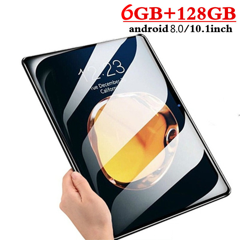 YAHU 10.1 Inch 3G 4G LTE Dual SIM Card IPS 2.5D Screen Tablet PC Octa Core 8GB RAM 128GB ROM Tablets Android 8.0 Bluetooth GPS