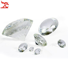 5 Sizes Fashion Crystal Diamond Cut Shape Paperweights Clear Glass Gem Jewelry Display Counter Organizer Ornaments Prop