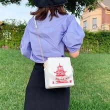 Китайский кошелек на вынос, женская сумочка из искусственной кожи, новинка, модная сумка через плечо, сумка-клатч на цепочке, сумка-тоут для ...