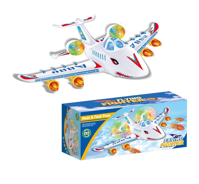 Large Size Aircraft Electric Flash Music Universal Airplane Children Dream Machine Air Bus Aviation Model Toy