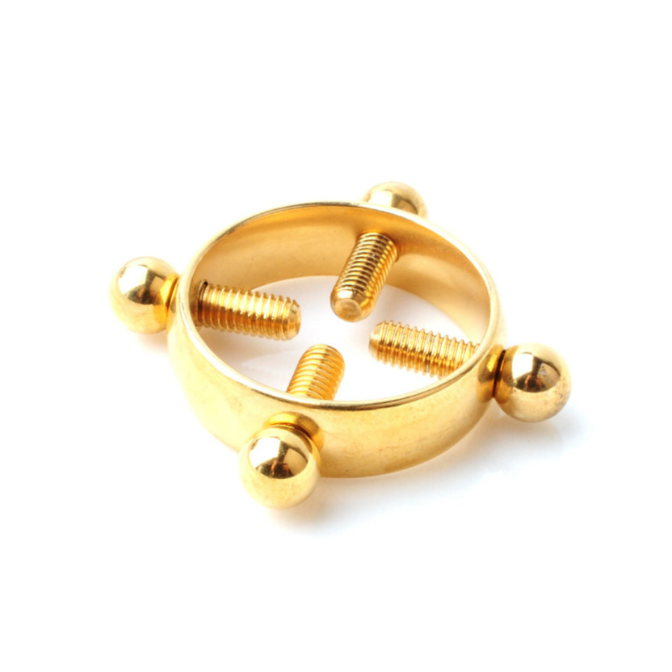 Fashion Sexy Nipple Clamps Round Non-Piercing Nipple Ring 2pcs Shield Body Piercing Jewelry Nickel-free Fake Piercing Sexy Toys