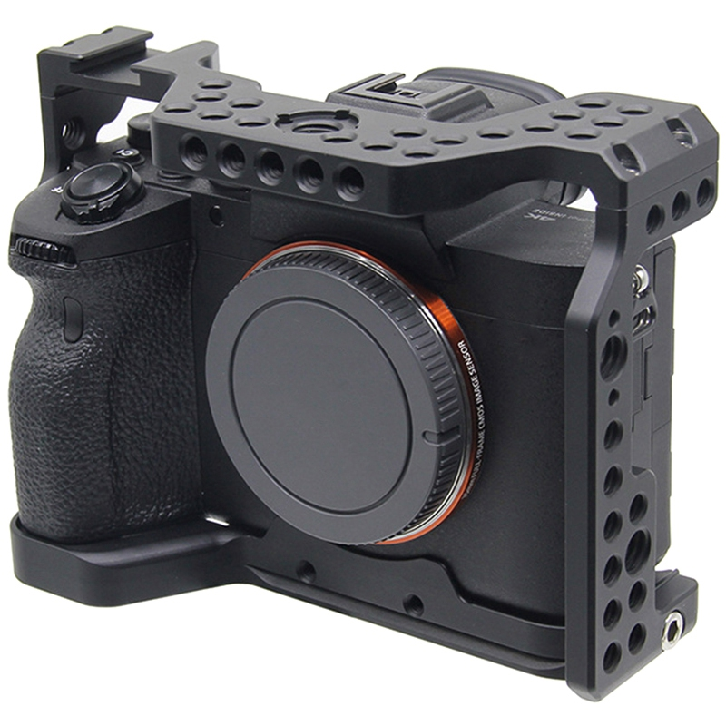 Aluminum Alloy Camera Cage Video Stabilizer Mount for Sony A7R4 Camera Housing Protective Cover Handle Bracket Accessories