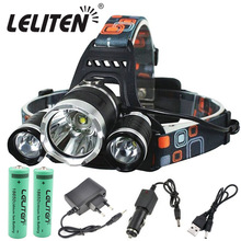 Led Headlamp Torch Flashlight Zoom Rechargeable