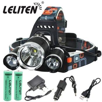 Drop Shipping Rechargeable zoom led headlamp Fishing headlight Torch Hunting head lamp Camping Headlamp Flashlight head light 1