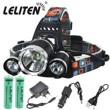 O transporte da gota recarregável zoom led farol de pesca tocha cabeça caça lâmpada acampamento lanterna cabeça luz