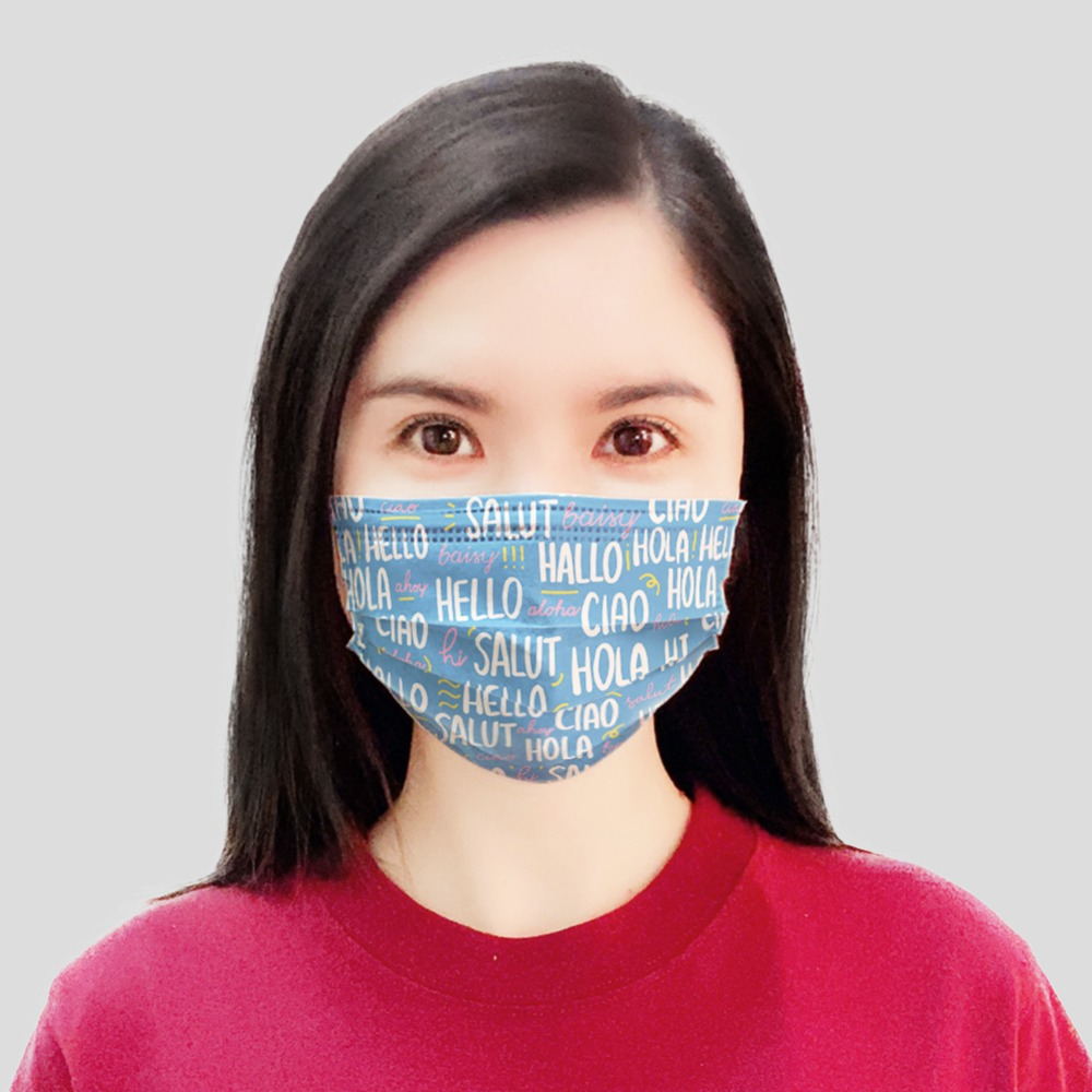 50Pcs/lot Anti dust Disposable Mouth Masks with Earloop Non woven 3 Ply Protect Antifog Face Mask Cartoon Print Adult|Masks|   - AliExpress