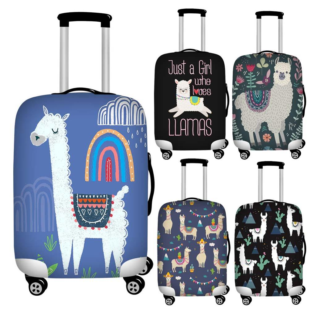 Foldable Floral Llama Print Luggage Protective Dust Cover Waterproof 18-32inch Suitcase Cover To Luggage Set Stretchable