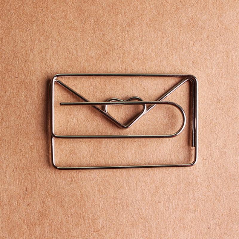 1pc 30mm*46mm Metal Silver Color Heart Shape Paper Clip Cute Bookmark Tag Clip