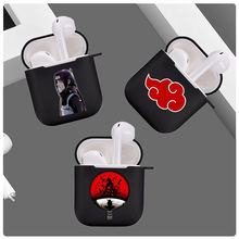 Чехол для apple airpods 1 2 мягкий черный чехол из ТПУ с рисунком