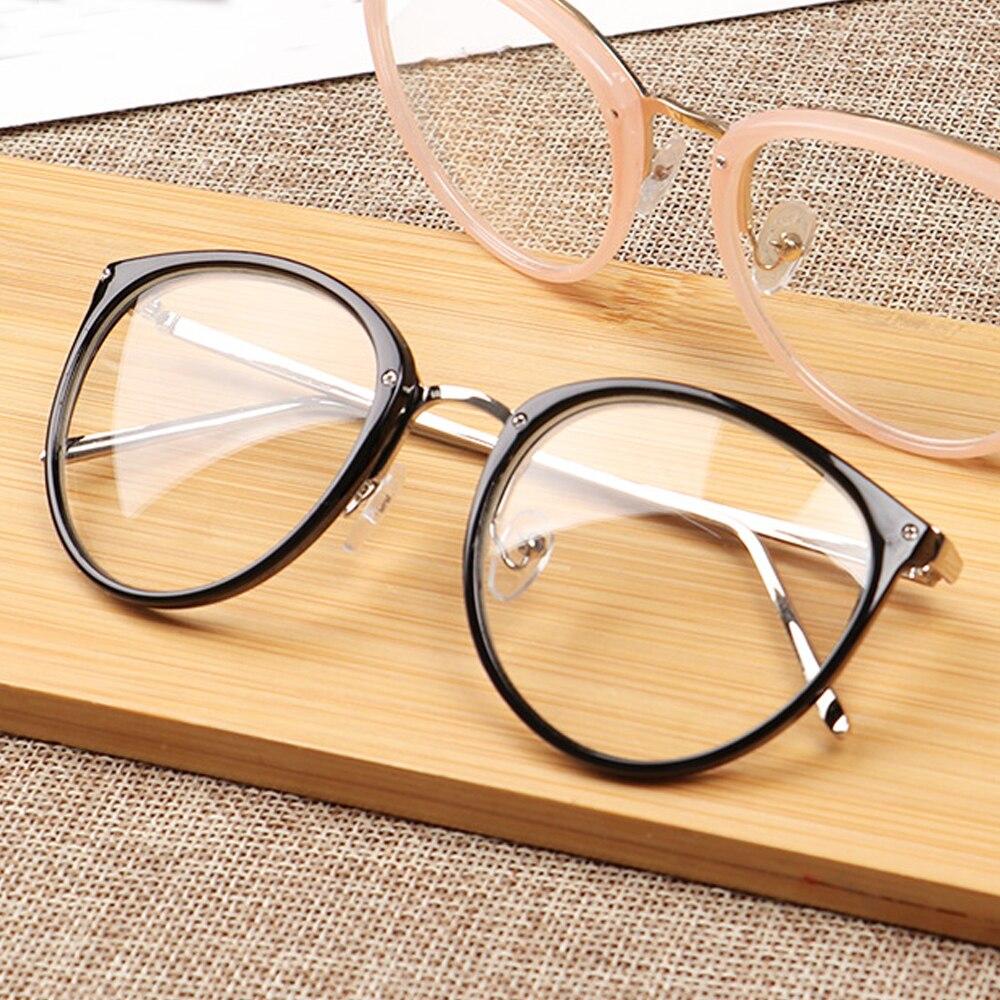 Classic Retro Optical Transparent Lens Glasses Women Myopia Eyeglasses Frames Metal Spectacles Clear Lenses Women's Glasses