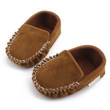 2020 bebê recém-nascido da menina do menino primeiros caminhantes mocassins do bebê pu sude couro primeiros caminhantes da criança crianças berço sapatos 6 cores