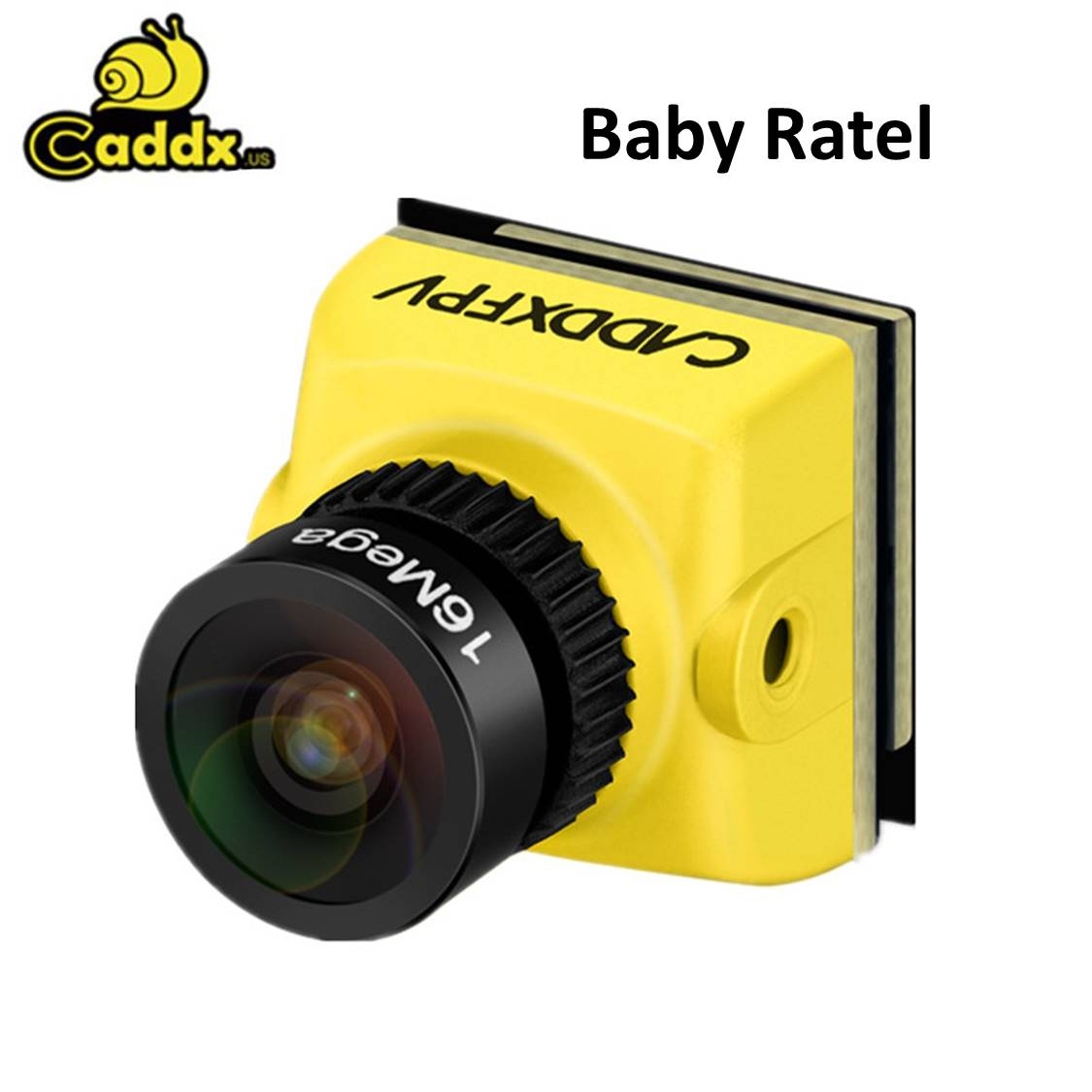 Caddx Baby Ratel Mini FPV Camera 1200TVL 1/1.8'' Starlight HDR 0.0001 LUX Super Night Version 14*14mm For FPV Racer Drone