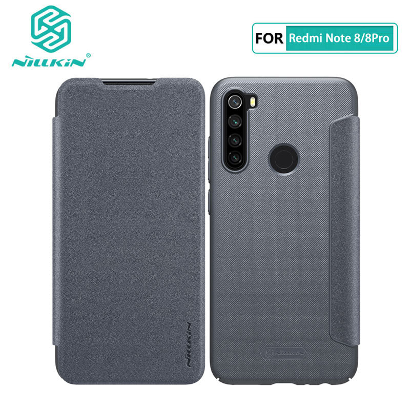 Flip Case For Xiaomi Redmi Note 8 Pro Nillkin Sparkle Series PU Leather Cover Redmi Note 8 Pro Case Flip Cases     - title=