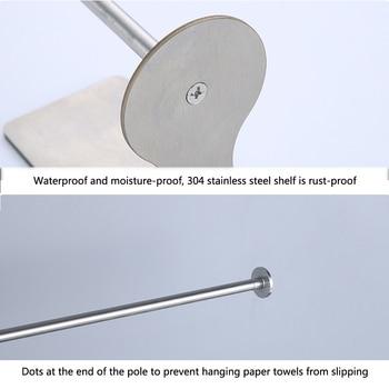 Dustproof Wall Mounted Cabinet Bar Hanging Multipurpose Stainless Steel Paper Holder Vertical Horizontal Kitchen Towel Rack фото