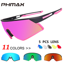 PHMAX Women Polarized Cycling Sunglasses 5 Lens Mountain Bike Glasses Ultralight