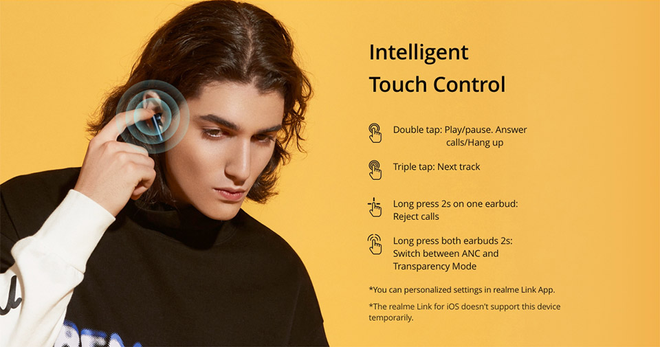 Realme Buds Air 2 with Active Noise Cancellation 8
