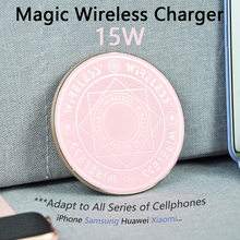 Charging-Pad Circle Magic-Array iPhone Wireless-Charger Xiaomi Galaxy Samsung 15W Note