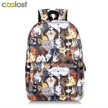Kawaii Puppy Dogs School Backpack for Teenager Boy Girl Pug / Bulldog / Bull Terrier Children School Bags Backpack Kids Book Bag - Category 🛒 All Category