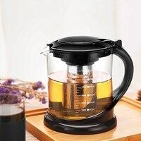 1800 ml grande pote de chá de vidro para puer tea party oolong com aço inoxidável chá infusor chaleira recipiente aquecido bules|Bules|   -