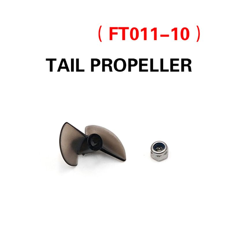 FT011 Remote Control Boat Fittings Propeller Vessel Component RC Boat Parts RC Accessory Propeller + Nut Remote Control Parts