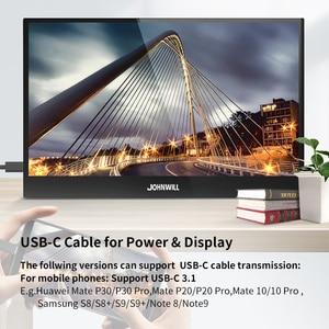Image 5 - ポータブルモニター15.6インチ液晶usbタイプc hdmiゲームモニターips 1080 1080p hdディスプレイPS4ノートパソコンの電話xboxスイッチpcケース
