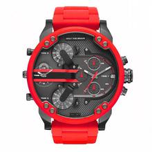 Sportowe męskie zegarki luksusowe ze stali nierdzewnej wodoodporny czerwony zegarek kwarcowy zegar człowiek cyfrowy armia Orologio Uomo męski zegarek P tanie tanio FORON 23cm Luxury ru QUARTZ NONE 3Bar Ukryte zapięcie CN (pochodzenie) STAINLESS STEEL Szkło Kwarcowe Zegarki Na Rękę