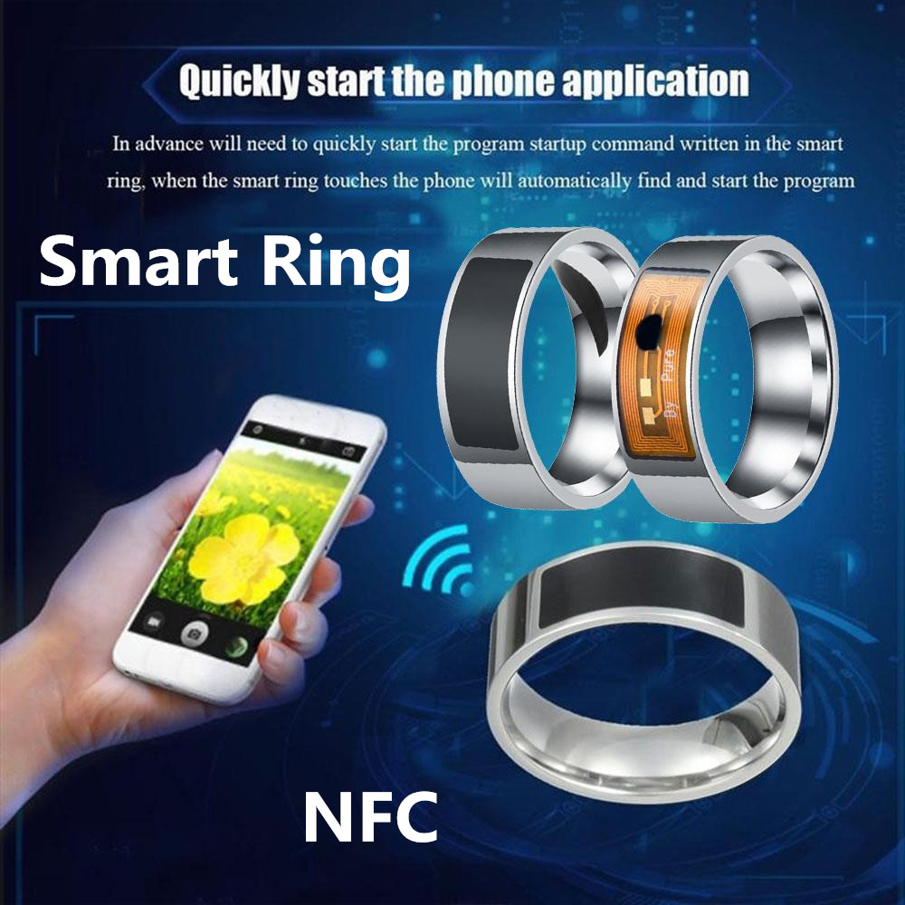 NFC Waterproof Multi-function Finger Wear Smart Ring Phone Smart Accessories Mobile Phone Unlock For iPhone Samsung HuaWei image