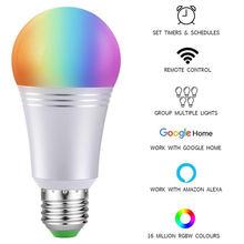 Смарт лампочка wifi светодиодный светильник красочные alexa