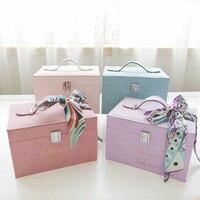 New Portable box wedding wedding box cosmetic box storage box halloween christmas wedding decoration decoration flower gift box
