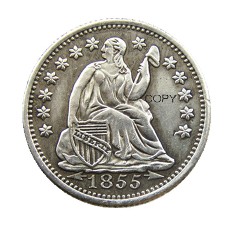 USA 1855P/O Liberty Seated Half Dime Arrows at Date Copy Coins