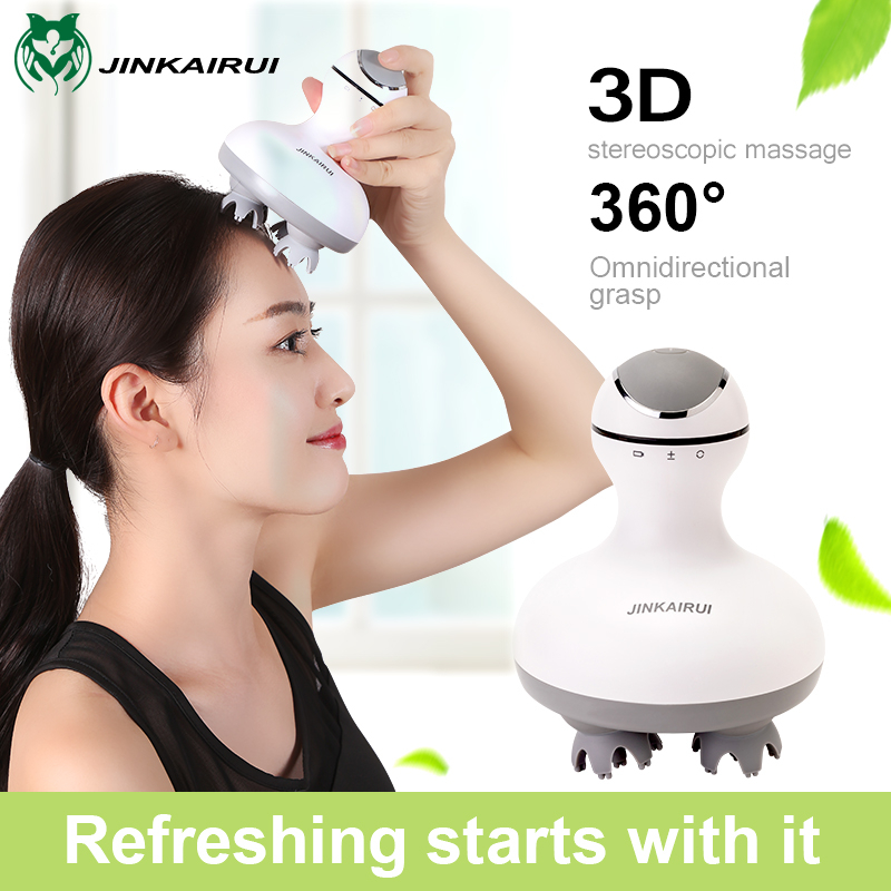 Masajeador de cuero cabelludo eléctrico, masajeador de cabeza, terapia de Spa, masajeador portátil impermeable para relajar los músculos, circulación sanguínea, crecimiento del cabello