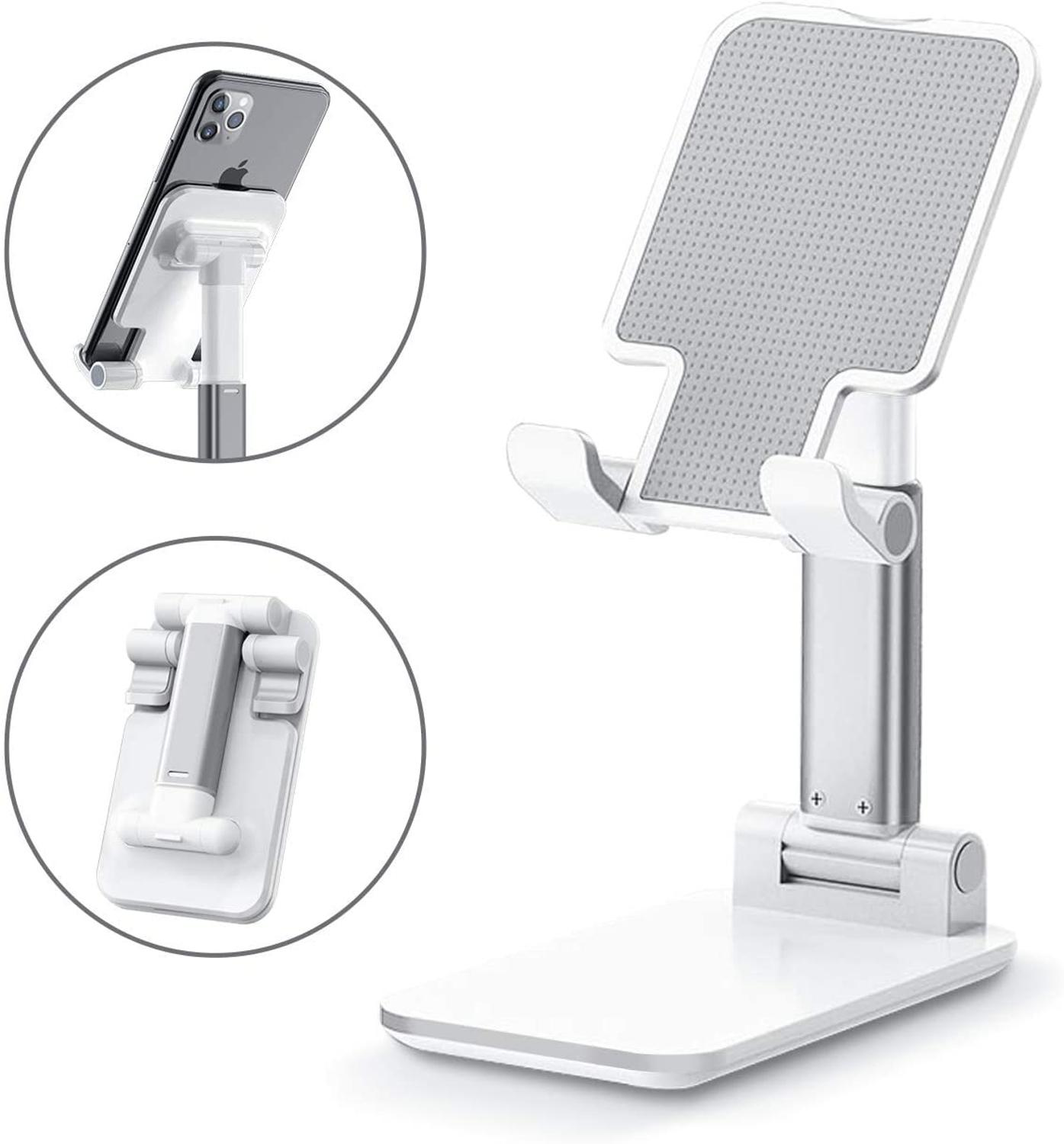 Cell-Phone-Holder Tablet-Stand Foldable with Compatible