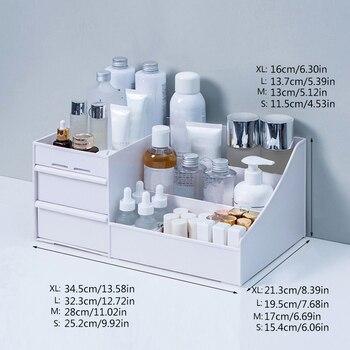 Large Capacity Cosmetic Storage Box Makeup Drawer Organizer for Jewelry Nail Polish 5