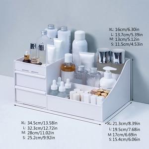 Image 5 - メイクアップオーガナイザー化粧品大容量化粧品収納ボックスオーガナイザーデスクトップジュエリー化粧引き出しコンテナ