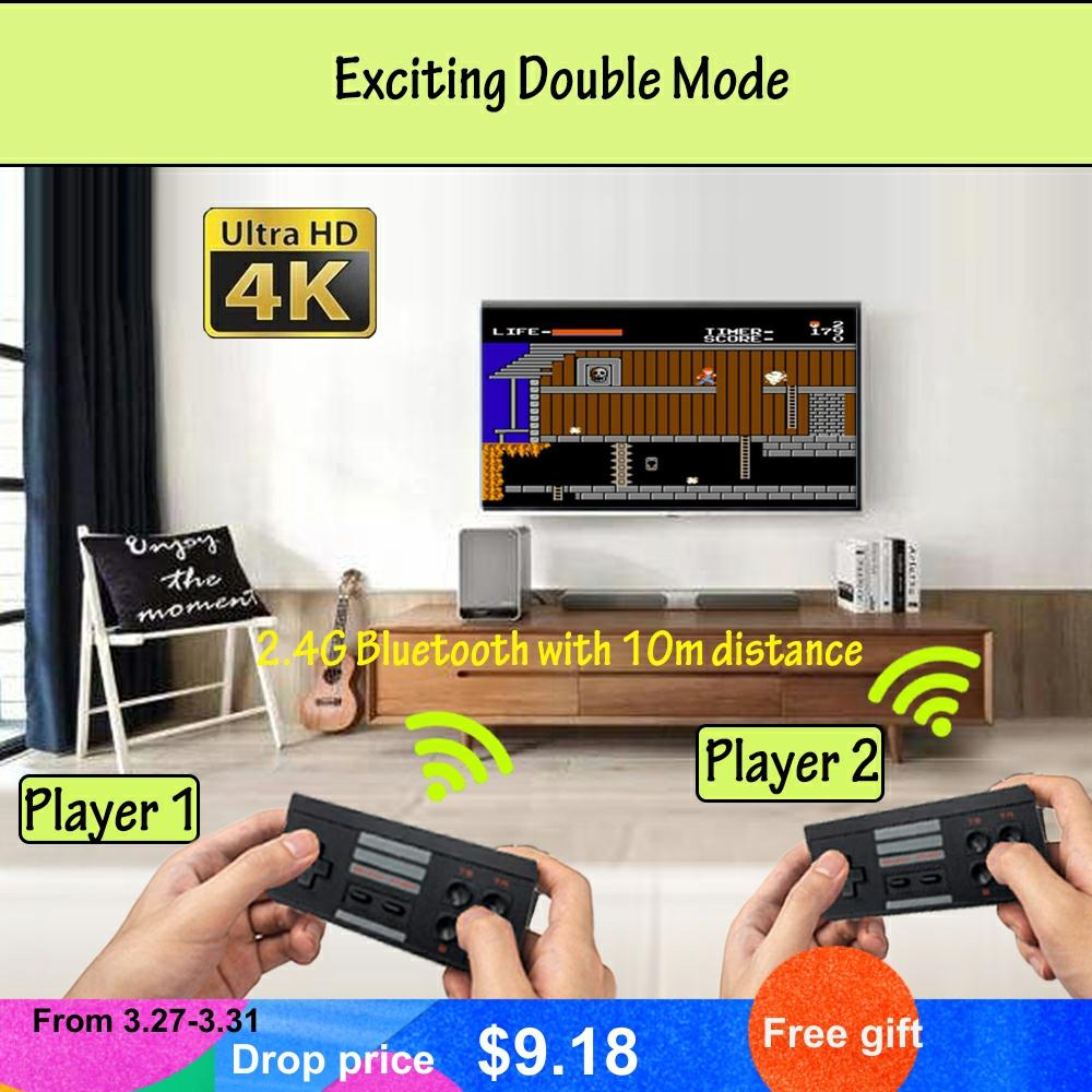 4K Mini TV 8 Bit Retro 568 Games Handheld Gaming Player HDMI Remote Wireless Video Game Console Toys Gifts for FC / NES Games