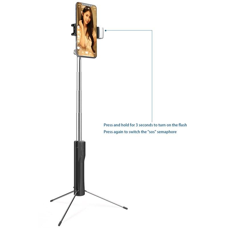 160cm com luz, suporte ajustável do telefone