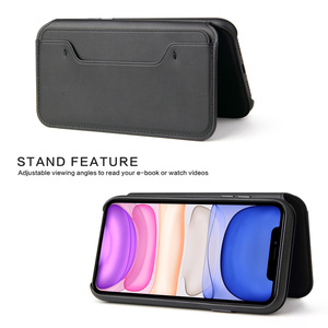Image 5 - Luxury Soft Leather Flip Phone Case for IPhone 11 Pro Xs Max Xr X 8 7 6 6s Plus Card Holder Wallet Cover for IPhone SE 2020 Case